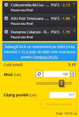Bilet Liga 2 Play-off, etapa 7: Mioveni, U Craiova 1948 și Rapid ne aduc 700 de lei