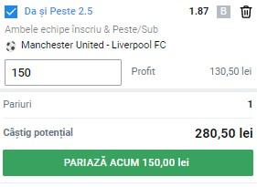 Ponturi pariuri Man. United – Liverpool, 13 mai 2021. Cota profitabilă: 1,87