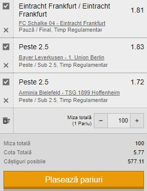 Bilet Bundesliga, etapa 33. Trei ponturi de încredere ne aduc un câștig de 500 de lei