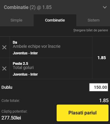 Ponturi pariuri Juventus - Inter, 15 mai 2021. Cota profitabilă: 1,85