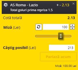 Pontul zilei din 15 mai 2021. Profitul vine de la AS Roma - Lazio