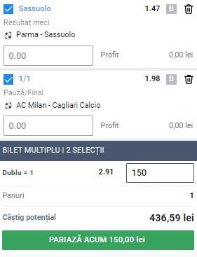 Bilet Serie A, etapa 37: Peste 400 de lei câștig cu două ponturi