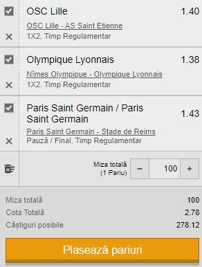 Bilet cota 10,00 din 16 mai 2021. Super câștig cu PSG, Lille și Lyon