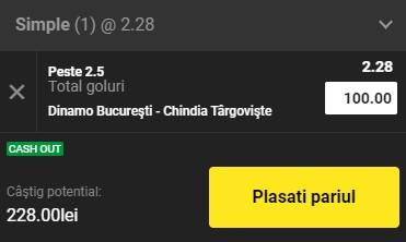 Ponturi pariuri Dinamo - Chindia, 19 mai 2021. Cota profitabilă: 2,28