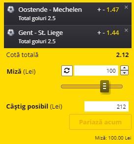 Biletul pe goluri din 19 mai 2021. Pariem pe cotă 2,12, formată din două meciuri din Belgia