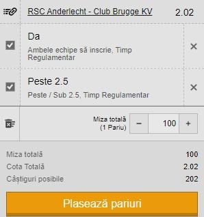 Ponturi pariuri Anderlecht - Club Brugge, 20 mai 2021. Cota profitabilă: 2,02