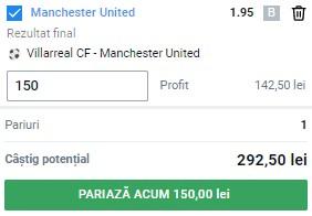 Ponturi pariuri Villarreal - Man. United, 26 mai 2021. Profit pe finala Europa League