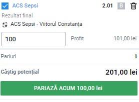 Ponturi pariuri Baraj Conference League Liga 1: cotă 2,01 la Sepsi - Viitorul