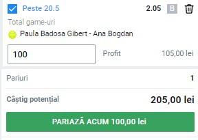Bilet cu tenis de la Roland Garros, 4 iunie 2021. Pariu în cotă 2,05 de la duelul Badosa Gibert - Ana Bogdan