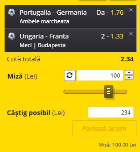Bilet EURO 2020 Grupa F, runda 2. Portugalia - Germania, duel de foc. Franța, meci ușor cu Ungaria