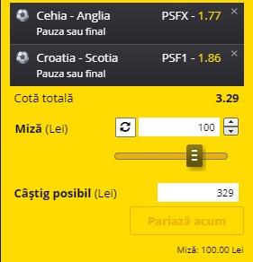 Bilet EURO 2020 Grupa D, etapa 3. Croația - Scoția, duel de foc! Cehia - Anglia, egal pentru optimi?