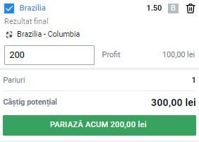 Ponturi pariuri Copa America. Brazilia - Columbia, selecția care ne aduce 300 de lei câștig