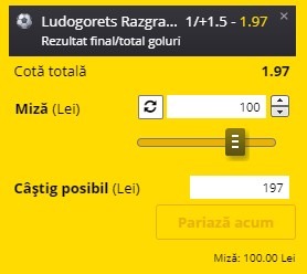 Ponturi pariuri Ludogoreț - Soligorsk, 7 iulie 2021. Cota profitabilă: 1,97