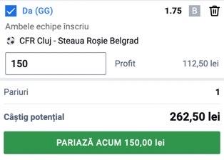 Ponturi pariuri CFR Cluj - Steaua Roșie Belgrad, 26 august 2021. Reuște echipa lui Șumudică să spele rușinea din tur?