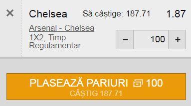 Ponturi pariuri Arsenal - Chelsea (22 august 2021)
