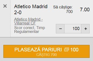 La Liga: Atletico Madrid - Villarreal (29 august 2021)