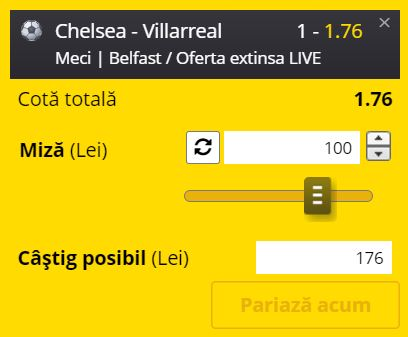 Ponturi pariuri Chelsea - Villarreal (11 august 2021)