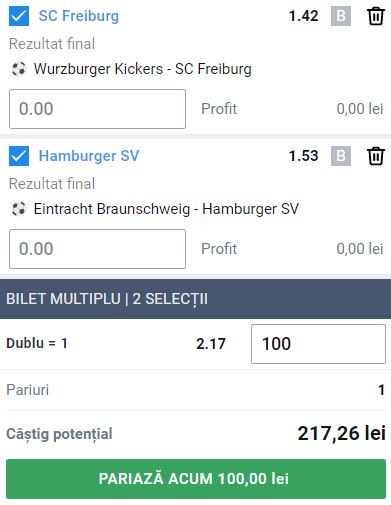 Biletul de Cupa Germaniei din 8 august 2021