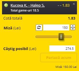 Pontul zilei din tenis 1 septembrie 2021. Pariu în cotă 1,83 pe meciul Simonei Halep