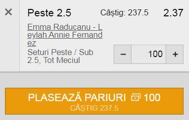 Finala US Open feminin: Emma Răducanu - Leylah Fernandez
