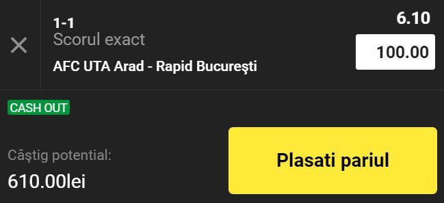 UTA Arad - Rapid (10 septembrie 2021)