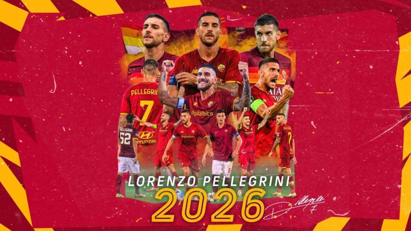 Căpitanul Lorenzo Pellegrini și-a prelungit contractul cu AS Roma până în 2026